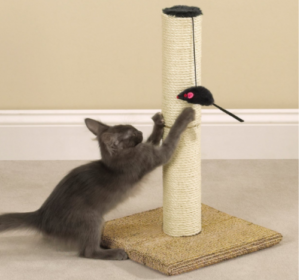 meow town cat scratch post